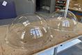 Čiré plexisklové kopule s lemem