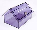 Atypická kasička domečkového tvaru