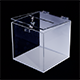 Acrylic moneybox - white and clear acrylic combination