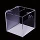 Dvoubarevná kasička s plexisklovou petlicí