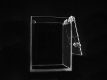 Moneybox 150mm x 150mm x 200 mm made of clear acrylic, secured with mailbox lock