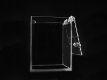 Kasička 150 x 150 x 200 mm z čirého plexiskla se schránkovým zámkem