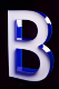Ukázka krabicového písmena 'B'