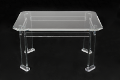 Conference table from thick clear acrylic