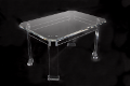 Acrylic table made of thick material