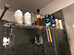 Shelf for bathroom products