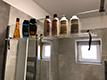 Bathroom shelf, hanging