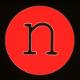 Noen company logo, red acrylic.