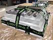 Dvousložkové lepení plexisklových desek (každá deska má sílu 40 mm)