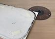 Pohled na nástroj, dodanou šablonu a nový obrobek